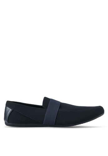 UniqTee navy Classic Textile Loafers UN097SH0SYS1MY_1