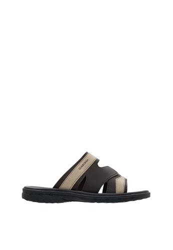 SEMBONIA brown SEMBONIA Men Synthetic Leather Sandal (Dark Brown) SE598SH0SZ8XMY_1