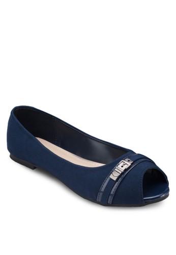 露趾扣環平底鞋, 女esprit 會員鞋, 鞋