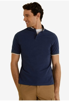 Hollister Medium Men Polo Green W/white Striped Short Sleeve Shirt-perfect Catalogues Will Be Sent Upon Request Polos