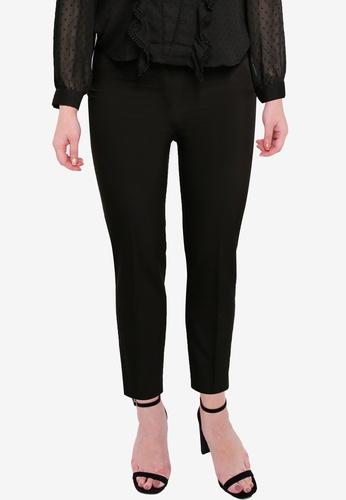 Violeta by MANGO black Plus Size Slim Fit Suit Trousers D2D02AABBE30D6GS_1