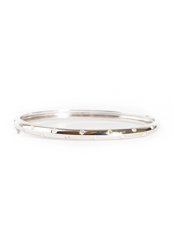 CEBUANA LHUILLIER JEWELRY silver 14 Karat White Gold Bangle 30789AC8D55A5AGS_1