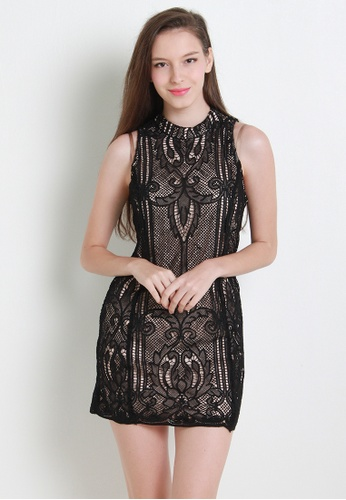 Leline Style black Celin Lace Dress LE802AA22ZMJSG_1