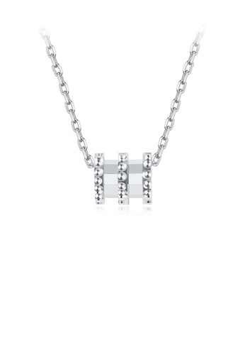 Glamorousky silver 925 Sterling Silver Simple Cylindrical Pendant with Necklace 2A5D2ACAF86A90GS_1