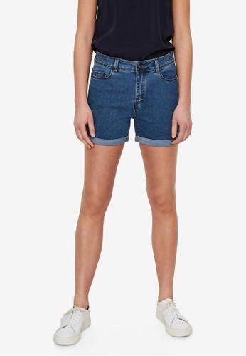 Vero Moda blue Hot Seven Denim Fold Shorts B92E7AA5B471F0GS_1