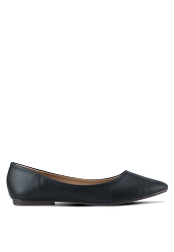 Spiffy black Casual Wear Flats SP352SH0SRXBMY_1