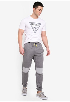 bd7518694a9 30% OFF Guess Classic Guess Triangle Logo Denim Trim T-Shirt RM 199.00 NOW  RM 138.90 Sizes S M L XL
