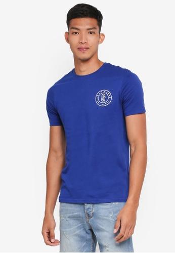 Only & Sons blue Bobbi Slim Tee 4178DAA56DF72EGS_1