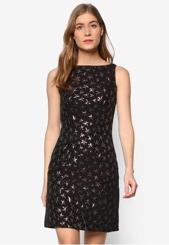 星星提花直筒連esprit手錶專櫃身裙, 服飾, 洋裝