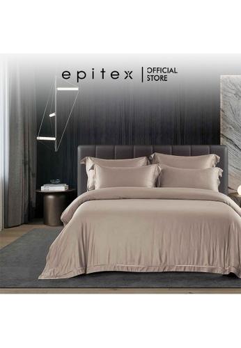 Epitex brown Epitex MD3032 1200TC Modal Dobby Fitted Sheet Set - Bedsheet Set - Bedding Set (Warm Taupe) - (w/o quilt cover) CAF51HLFB40149GS_1