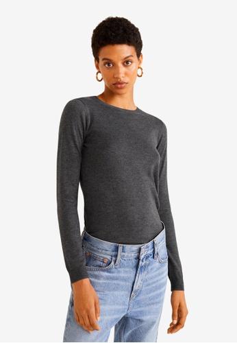 Mango grey Bead Sweater 8DF17AA035B0E1GS_1