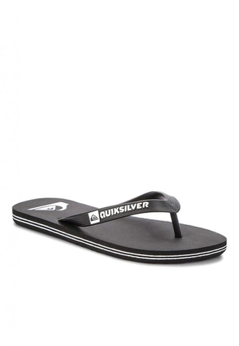 Quiksilver black Molokai Slippers 58DC6SHA83FBE6GS_1