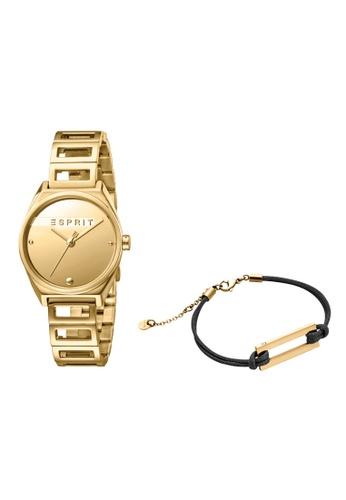 Esprit gold ESPRIT [Slice Mini] 30mm Gold Stainless Steel Band Women Watch [ES1L058M0025] B7EDDAC9E68529GS_1