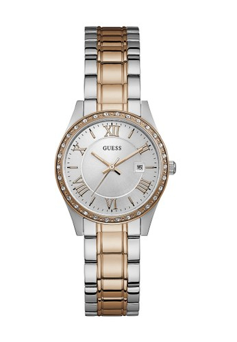 Guess Watch silver Guess Jam Tangan Wanita Analog W0985L3 BAED5ACD8FD634GS_1