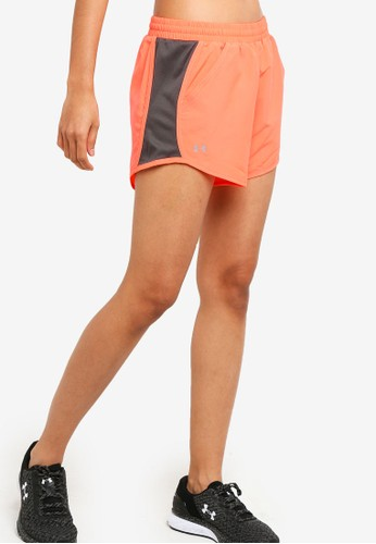 Under Armour orange Fly By Shorts 8D376AAC5278CCGS_1