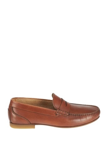 Sebago brown Trenton Penny Driving Shoes SE328SH0J653PH_1