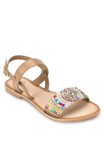Dove 珠飾繞踝涼鞋, 女鞋,esprit女裝 鞋