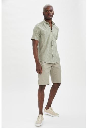 DeFacto green Regular Fit Cotton Bermuda 8BBCDAA8E49988GS_1