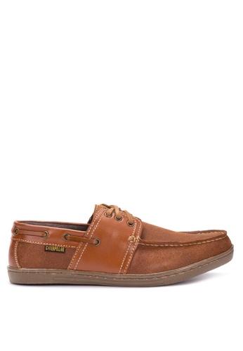 Caterpillar brown Men's Boat Shoes CA367SH85NQGPH_1