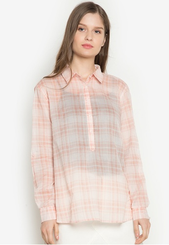 Joe Fresh pink Plaid Shrt Top JO088AA0JKWHPH_1