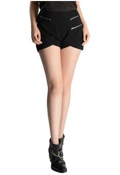 Jersey Zip Shorts