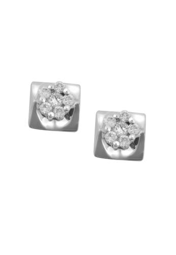 TOMEI white TOMEI Earrings in Quadrated Sensations, Diamond White Gold 375 (E1714) BF346AC60C14BCGS_1