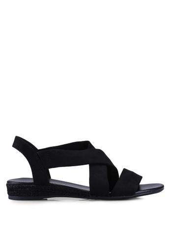 970b50039 Dorothy Perkins black Black Ream Demi Wedge Sandals E66FCSHAD42A87GS_1