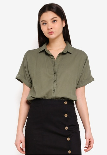 Cotton On green Cassie Short Sleeve Shirt F1947AA4249985GS_1
