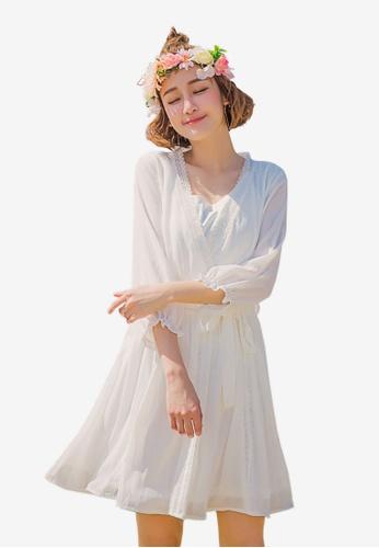 Tokichoi white Bellted Wrap Dress BDDDCAA948CD1BGS_1