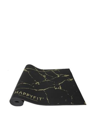 Happyfit gold HAPPYFIT YOGAMAT PVC MARBLE 5MM BLACK GOLD 79F74AC054F537GS_1