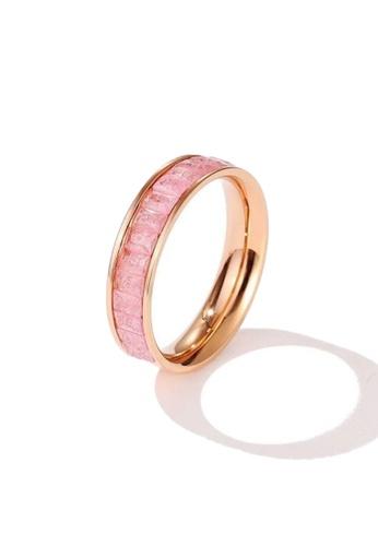 CELOVIS pink and gold CELOVIS - Georgia Pink Zirconia in Rose Gold Ring 080BDAC6FB741CGS_1