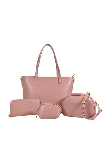 Esfolar Esfolar Aurora 4-IN-1 PU Leather Handbag Set 4FF56ACC34B506GS_1