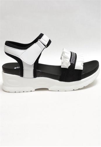 Crystal Korea Fashion white Korean-made Summer Sweet Wrinkled Platform Sandals D7078SHB3D611EGS_1