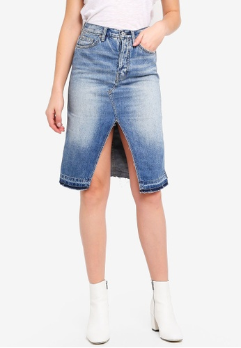 Free People blue Denim Midi Skirt 0A179AA44210FAGS_1