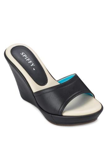 esprit專櫃露趾楔形涼鞋, 女鞋, 楔形涼鞋