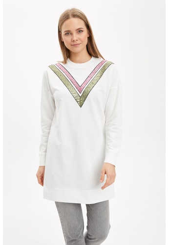 DeFacto beige Woman Knitted Sweat Tunic BBC74AA2720499GS_1