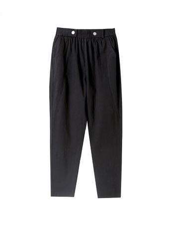 Twenty Eight Shoes black VANSA Cotton Linen High Waist Causal Pants  VCW-P2303 8C265AA98717A3GS_1