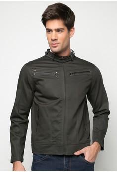 Slim Fit Plain Jacket