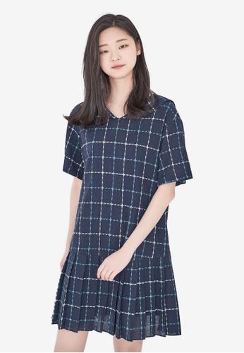 NAIN navy Pleated Hem Dress AB100AA0DE270CGS_1
