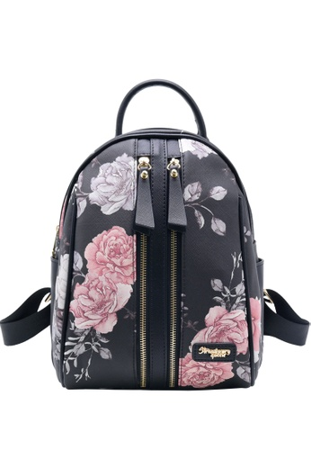 STRAWBERRY QUEEN black Strawberry Queen Dual Front Zipper Floral Backpack - Candy (Floral AL, Black) ADF7AACBEB172EGS_1