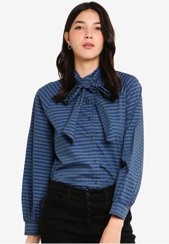 ESPRIT blue Woven Long Sleeve Shirt 83470AA48358ACGS_1