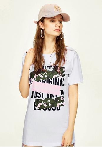 Hopeshow white Loose Fitting Printed T-Shirt AF57BAA399B0ECGS_1