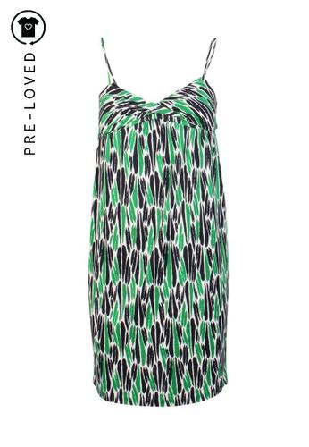 Diane Von Furstenberg green Pre-Loved diane von furstenberg Green and Black Marks Dress 3F58DAA48DB8FDGS_1