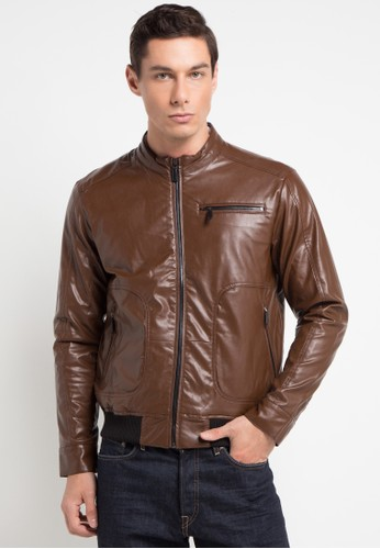 Andrew Smith brown Synthetic Leather Jacket 460F2AA4DD420FGS 1 0c1ce744f2