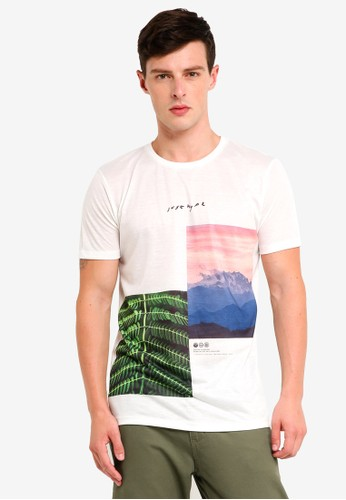 Just Hype white JH Paradise T-Shirt 8BFB0AAA1D526EGS_1