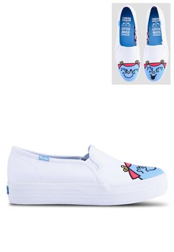 Keds 藍色 Little Miss Giggles 印花懶人鞋 FBC27SH7ED2C4BGS_1