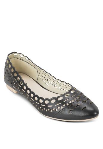 雕花尖頭平底鞋, 女esprit outlet 台灣鞋, 鞋