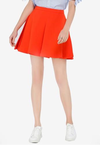 Hopeshow orange High Waist Skirt 5307FAA9168394GS_1