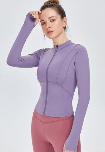 Twenty Eight Shoes purple VANSA Fashion Slimming Yoga Jacket VPW-Y0009 FCEF4AADBE3F9CGS_1