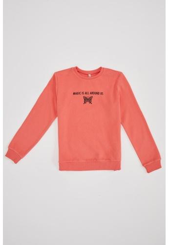 DeFacto red Long Sleeve Round Neck Sweatshirt 70E93KA8725CF7GS_1